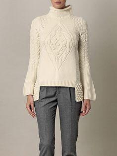 Chunky Aran-knit sweater Alexander McQueen