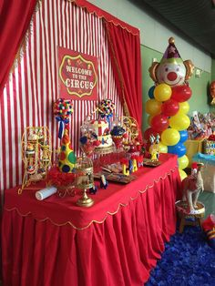 Festejos Party Rentals's Birthday / Circus / Carnival - Photo Gallery at Catch My Party Circus Theme Party, Carnival Birthday Parties, Circus Birthday, Birthday Party Themes, Themed Parties, Birthday Ideas, Carnival Themes, First Birthdays, Party Favors