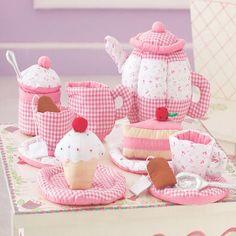 Fabric Tea Set & Case $32.99