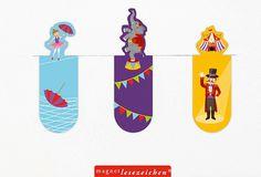 Diese süßen Lesezeichen sind eine süße Geschenkidee für die Gäste auf einem Kindergeburtstag oder einer Kinderparty mit dem Thema Zoo, Zirkus oder Tiere. Die Magnet Lesezeichen Zirkus gibt es bei www.party-princess.de