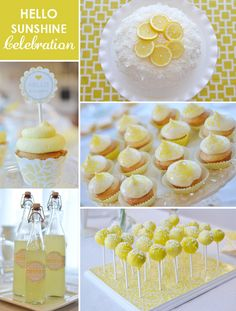 sunshine themed baby shower @Jenna T.  reminded me of something you pinned recently