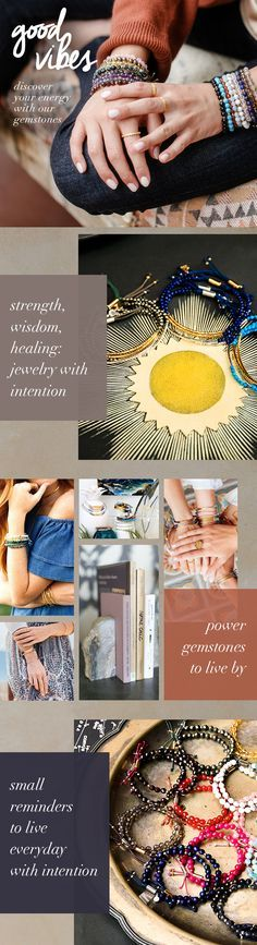 Discover the healing properties of each PowerGemstone. use healing crystals as jewelry
