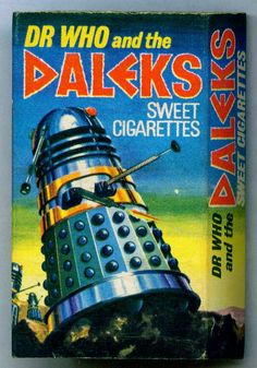 "Cadet Sweets ~ Sweet Cigarettes Box ""Dr Who and the Daleks"" Retro Robot, Retro Toys, 1970s Childhood, Childhood Memories, Second Doctor, 4th Doctor, Smoking Is Bad, Classic Doctor Who, Doctor Who Art"