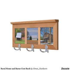 Rural Home and Barns Coat Rack
