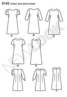 New Look NL6145 Patron de Couture Robe Droite 22 x 15 cm: Amazon.fr: Cuisine & Maison