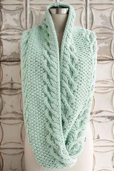 Ravelry: Monoshone Creek Cowl pattern by Jocelyn Tunney - free knitting pattern by patsy Cowl Scarf, Knit Cowl, Crochet Beanie, Knitted Shawls, Crochet Scarves, Knit Crochet, Knitting Scarves, Knit Hats, Ravelry Crochet