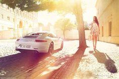 Porsche 911 and Girl #porsche #cargirl