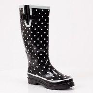Polka Dot Rain Boot