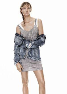 La robe Mango de Karlie Kloss, tendance métallisée, à moins de 20 euros : http://ptilien.fr/VL5b