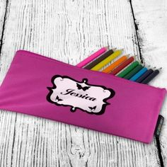 Personalised Butterfly Pen and Pencil Case Pens And Pencils, Back To School Gifts, Butterfly, Wallet, Bow Ties, Butterflies, Purses