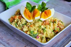 The kitchen is always open .: Cauliflower dish salad (similar to potato)-------SLOVAK Cauliflower Dishes, European Cuisine, Risotto, Potato Salad, Vegetarian Recipes, Food And Drink, Low Carb, Yummy Food, Meals