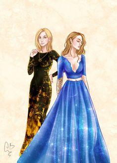 Aelin e Feyre / Melhores personagens que esse mundo já viu