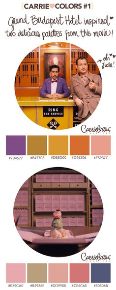 Would work for my bathroom Grand Budapest Hotel Colour Pallette, Colour Schemes, Color Combos, Wes Anderson Style, Wes Anderson Movies, Gran Hotel Budapest, Grande Hotel, Hotel Party, Color Stories