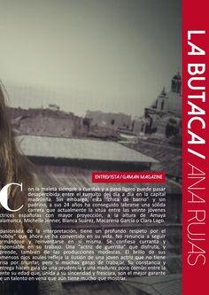 Pág 2 de la entrevista a Ana Rujas de Gaman Magazine#1 disponible en http://issuu.com/gamanmagazine/docs/n1_gamanfinal