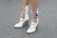 Boots that were made for much more than walking.   #pfw #streetstyle #ss14