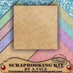 Embossed Pastel Cherry Blossom 8 Scrapbooking Papers Kit on Craftsuprint - Add To Basket!
