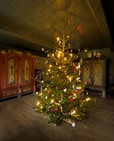#Juletræ - Christmas tree at the Open Air Museum - the farm from Sdr. Sejerslev (Southern Jutland)