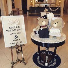 ウェルカムボードとウェルカムドールも可愛く設置してくれた^o^#wedding #handmade #DIYハンドメイド #DIY #welcome board #ted #テッド #ウェルカムボード #ウェルカムドール