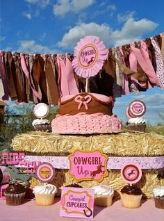 AZ COWGIRL - Girls Horse Birthday Party - Ranch Party - Western Pink Horse - Cowboy - Complete Package - Rodeo - Baby Shower. $30.00, via Etsy.