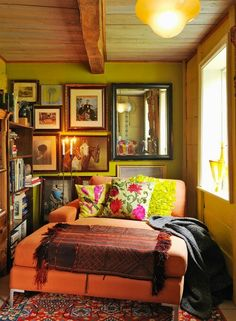 One day I will have a snuggly readin corner.