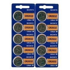 Sony CR2032 Lithium 3V Batteries (2 x Pack of 5) - http://www.watchesandstuff.com/sony-cr2032-lithium-3v-batteries-2-x-pack-of-5/