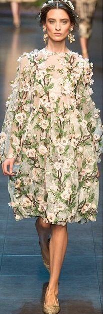 Flower covered dress, Dolce & Gabbana