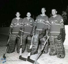Charlie Hodge, Gary Bauman, Ernie Wakely and Lorne (Gump) Worsely. Hockey Goalie, Hockey Teams, Hockey Players, Ice Hockey, Hockey Girls, Hockey Mom, Montreal Canadiens, Nhl, Baseball Match