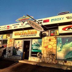 Encinitas Surfboards Shop, close to the corner of Encinitas Blvd. and Old Hwy 101.