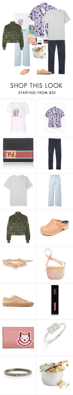 """""""Movie 🎥🍿 night"""" by fieldnotes ❤ liked on Polyvore featuring Ganni, Urban Outfitters, Fendi, rag & bone, Officine Générale, We11Done, Nili Lotan, Swedish Hasbeens, Chan Luu and Yves Saint Laurent"""