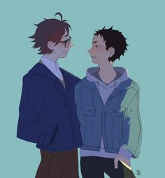 #Iwaoi #hq #haikyuu #iwaizumi #oikawa source: http://sunsteez.tumblr.com/
