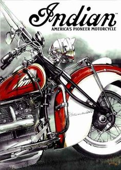 132 - MOTORCYCLE - INDIAN - America`s Pionner Motorcycles - 29x4
