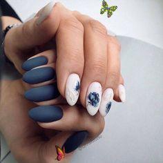 """Replenish """"Saving"""" floral design #cutenailideas #cutenaildesigns<br> Summer Acrylic Nails, Spring Nails, Blue Nails, My Nails, New Nail Colors, Colorful Nails, Basic Nails, Nails Only, Mermaid Nails"""