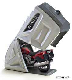 Need a place to store your bike?BikeBox24......The standard version is suitable for all sport motorcycles, scooters, small and medium Tourer, and Chopper.