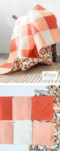 Quilting Projects, Quilting Designs, Gingham Quilt, Textiles, Start Knitting, Easy Knitting, Easy Quilts, How To Make Quilts, Sewing Tutorials