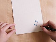 super cute card interior | Floral Greeting Collection (set of 3 cards) by Furze Chan (etsy)