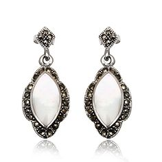 Joyeria Plata y Azabache Artesania Galicia Home Page Silver and Black Jet Crafts Jewelry Crafts Tax Free, Marcasite, Vintage Earrings, Jewelry Crafts, Drop Earrings, Sterling Silver, Retro, Womens Fashion, Collection