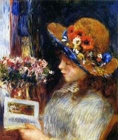 Pierre-Auguste Renoir (French Impressionist Painter, 1841-1919) Girl Reading 1886