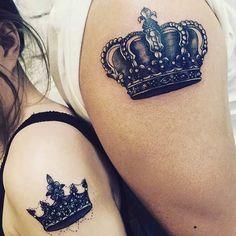 Big, Arm King & Queen Tattoos