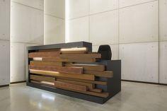 Office Interior Design | Unusual reception desk in the Relay Building