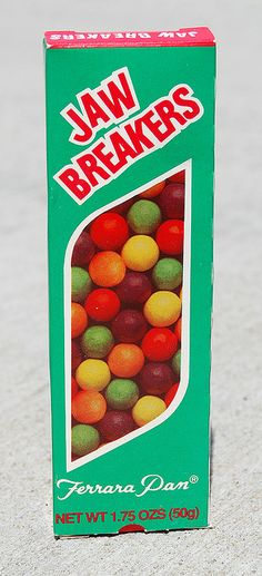 Jaw Breakers...a part of the 1970s movie experience....right along with a giant pickle!