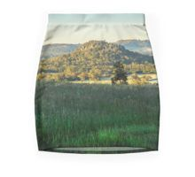 A View to Hanging Rock from Mount Macedon Pencil Skirt