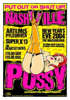 GigPosters.com - Nashville Pussy - Artemis Pyledriver - Super X 13 - Heartattacks, The