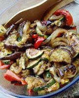 Salada de Legumes Grelhados (vegana)