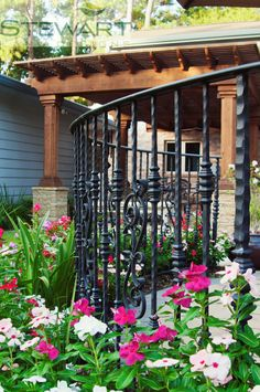 Wrought iron features like this divider are unexpected yet classic. #StewartLandDesigns