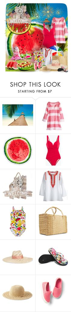 """Welcome Summer & Have A Happy Fourth!!"" by bb60477 ❤ liked on Polyvore featuring Brewster Home Fashions, Nordstrom Rack, Nannacay, Eugenia Kim and Gap"