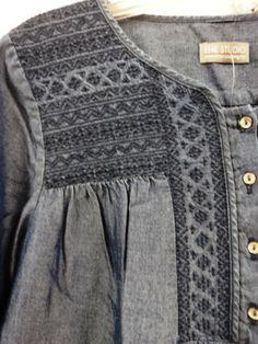 embroidered smock