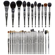Professional Makeup Brushes Set Soft Goat Hair Face Powder Blusher Highlighter Sculpting Brush Foundation Eye Shadow Blending Lip Eyeliner Brush Cosmetic Tools * You can find more details by visiting the image link. (This is an affiliate link) #MakeupBrushesTools