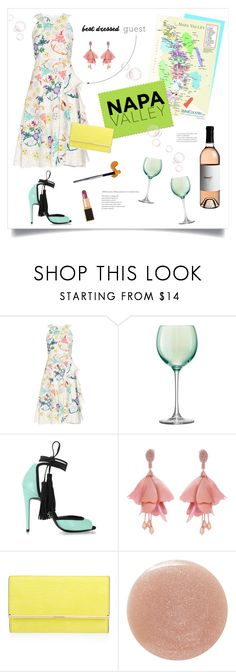 """Napa Valley Wedding"" by grrr8style ❤ liked on Polyvore featuring Peter Pilotto, LSA International, Pierre Hardy, Oscar de la Renta, Henri Bendel, Lauren B. Beauty, Tom Ford, napa, winerywedding and bestdressedguest"