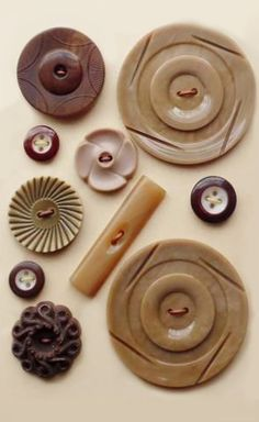 Vintage natural toned buttons
