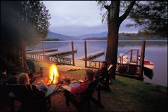 Summer Bonfire  www.lakeplacidlodge.com